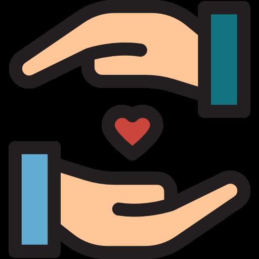 Un coeur entre deux mains