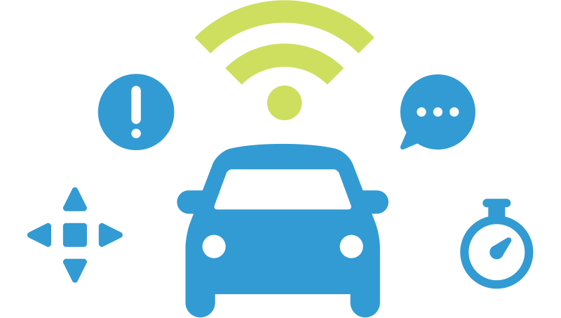Représentation d'une voiture connectée